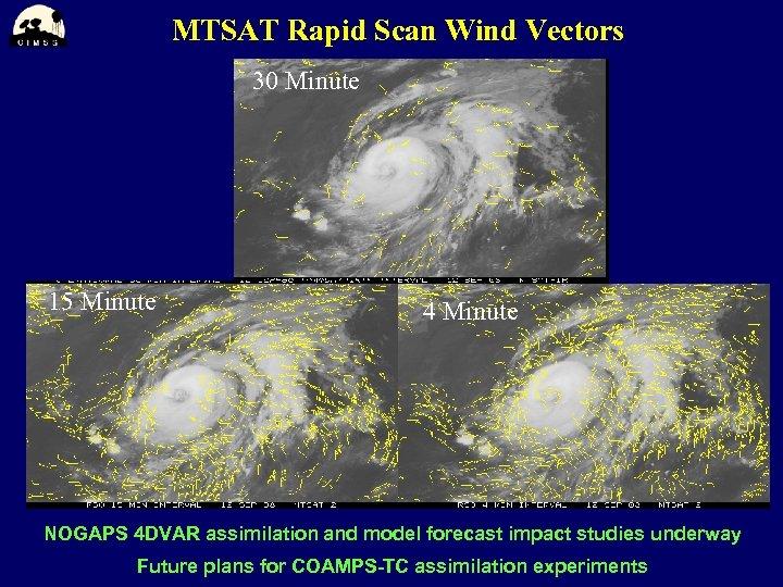 MTSAT Rapid Scan Wind Vectors 30 Minute 15 Minute 4 Minute NOGAPS 4 DVAR