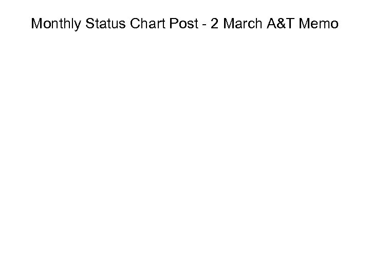 Monthly Status Chart Post - 2 March A&T Memo