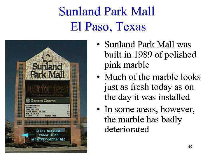 Sunland Park Mall El Paso, Texas • Sunland Park Mall was built in 1989