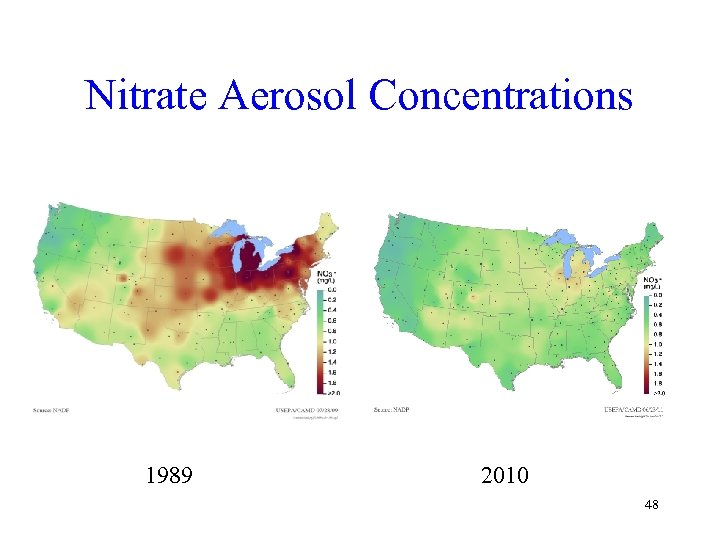 Nitrate Aerosol Concentrations 1989 2010 48