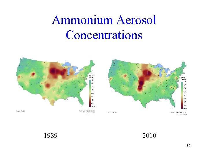 Ammonium Aerosol Concentrations 1989 2010 50