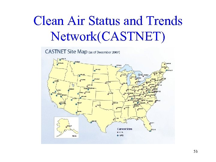 Clean Air Status and Trends Network(CASTNET) 53