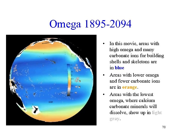 Omega 1895 -2094 • In this movie, areas with high omega and many carbonate