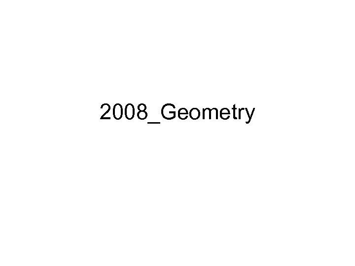 2008_Geometry
