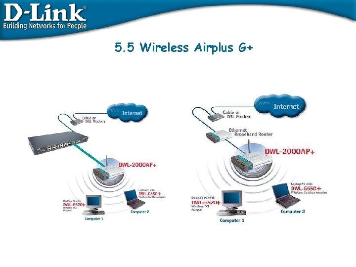 5. 5 Wireless Airplus G+