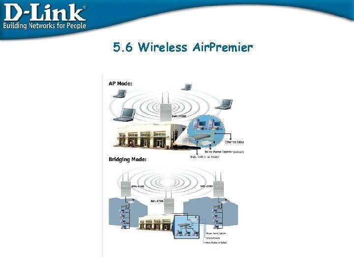 5. 6 Wireless Air. Premier