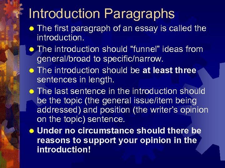 Campus essay