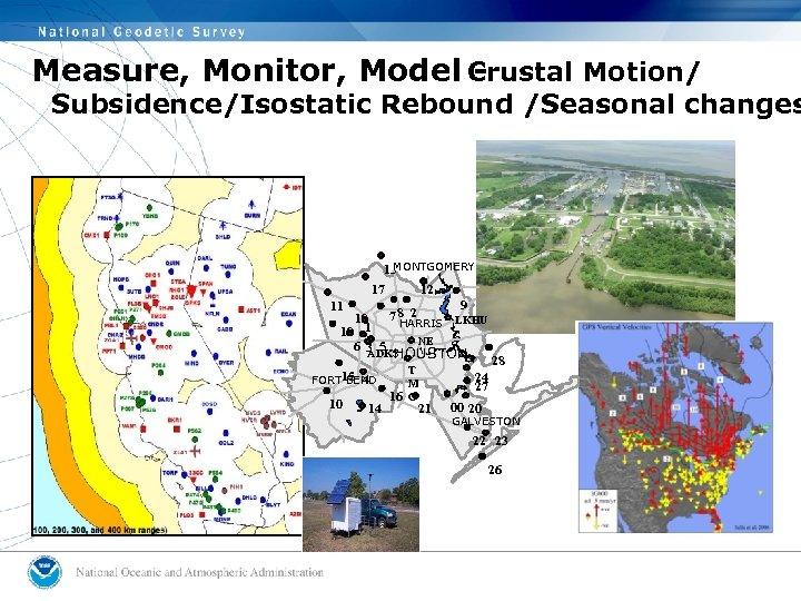Measure, Monitor, Model Crustal Motion/ - Subsidence/Isostatic Rebound /Seasonal changes MONTGOMERY 13 12 17