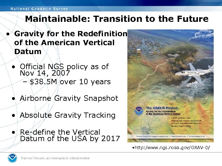 Maintainable: Transition to the Future • Gravity for the Redefinition of the American Vertical