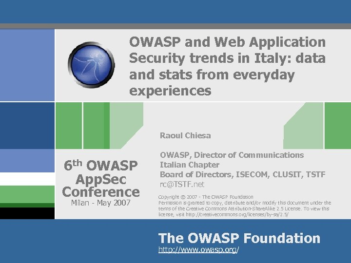 OWASP and Web Application Security trends in Italy: data and stats from everyday experiences