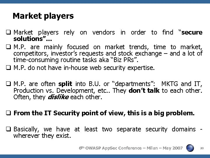 """Market players q Market players rely on vendors in order to find """"secure solutions""""…"""