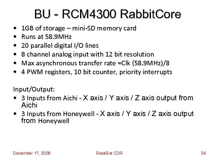 BU - RCM 4300 Rabbit. Core • • • 1 GB of storage –