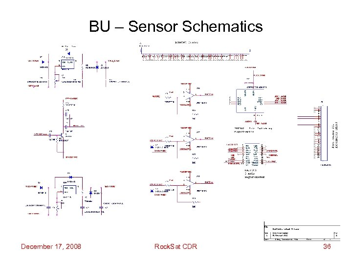 BU – Sensor Schematics December 17, 2008 Rock. Sat CDR 36