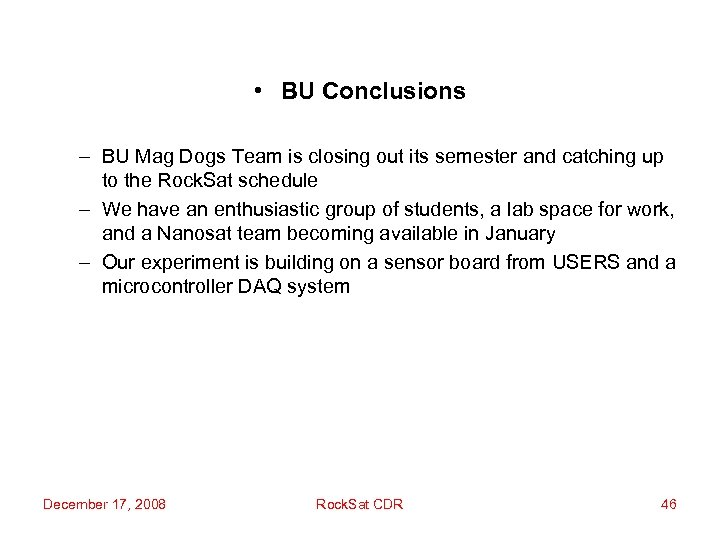 • BU Conclusions – BU Mag Dogs Team is closing out its semester