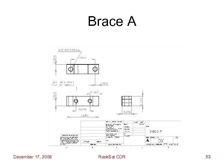 Brace A December 17, 2008 Rock. Sat CDR 53