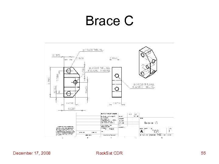 Brace C December 17, 2008 Rock. Sat CDR 55