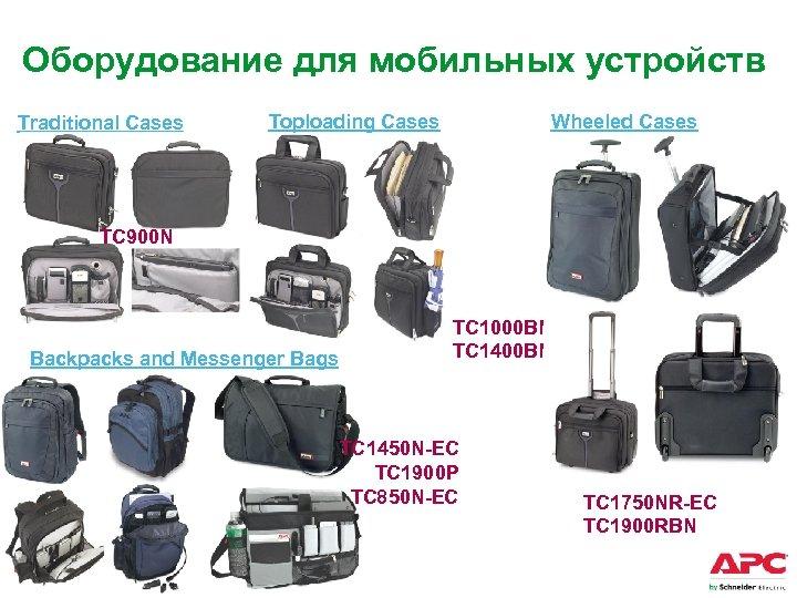Оборудование для мобильных устройств Traditional Cases Wheeled Cases Toploading Cases TC 900 N Backpacks