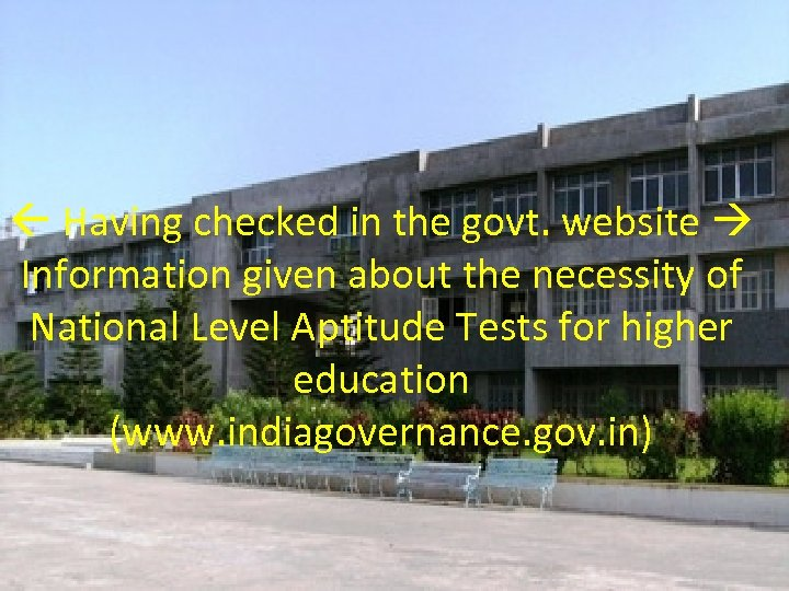 Having checked in the govt. website Information given about the necessity of National
