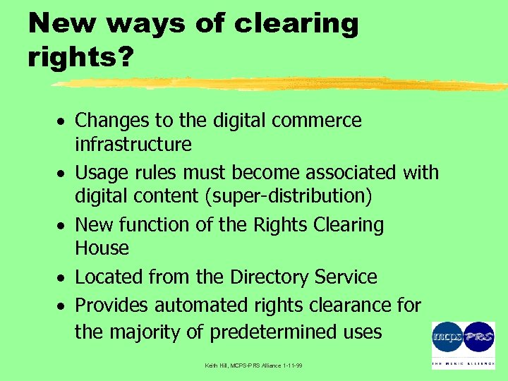 New ways of clearing rights? · Changes to the digital commerce infrastructure · Usage