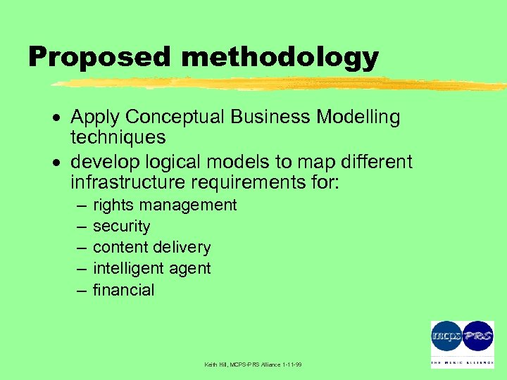 Proposed methodology · Apply Conceptual Business Modelling techniques · develop logical models to map