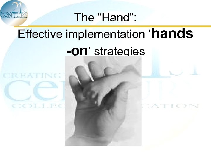 "The ""Hand"": Effective implementation 'hands -on' strategies"