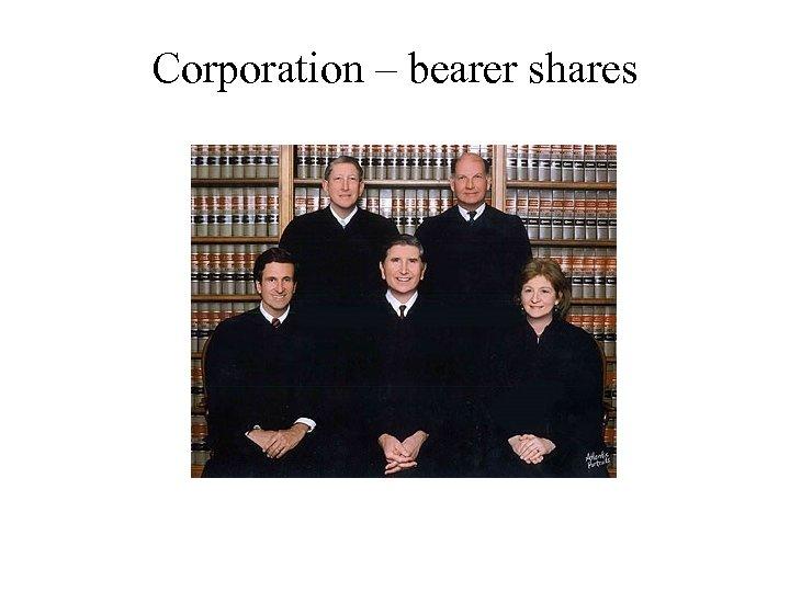 Corporation – bearer shares