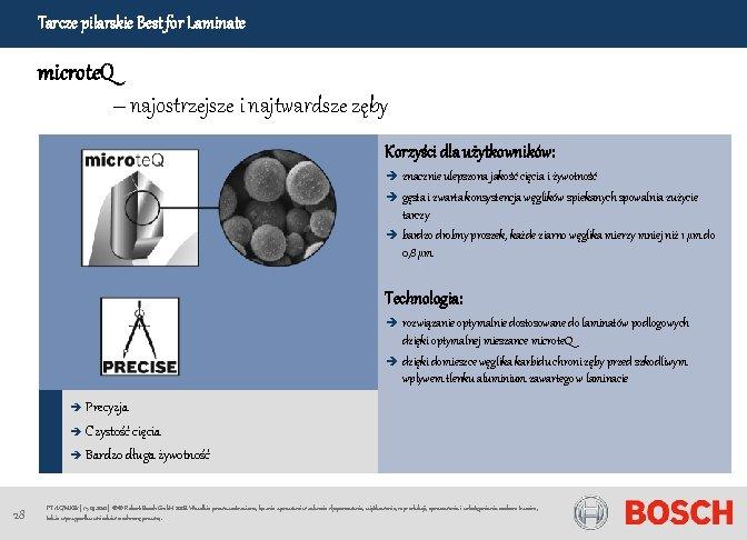 Tarcze pilarskie Best for Laminate microte. Q – najostrzejsze i najtwardsze zęby Korzyści dla