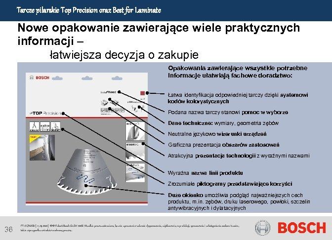Tarcze pilarskie Top Precision oraz Best for Laminate Nowe opakowanie zawierające wiele praktycznych informacji