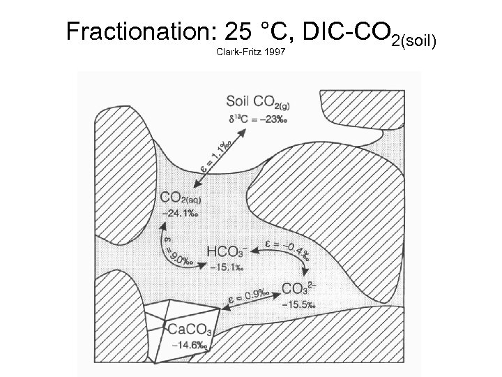 Fractionation: 25 °C, DIC-CO 2(soil) Clark-Fritz 1997