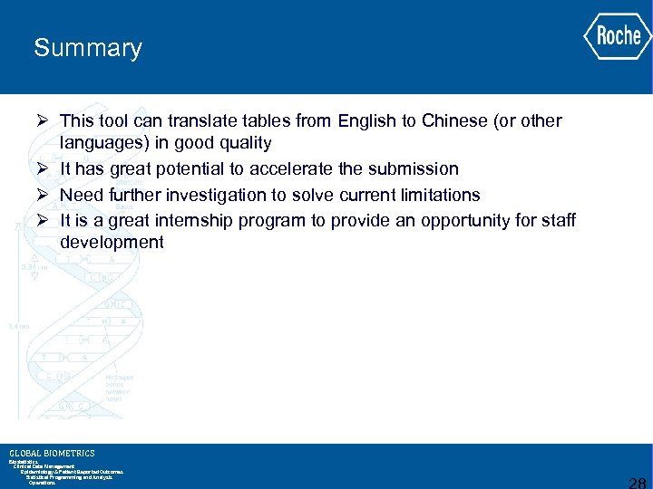 Summary Ø This tool can translate tables from English to Chinese (or other languages)