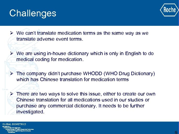 Challenges Ø We can't translate medication terms as the same way as we translate
