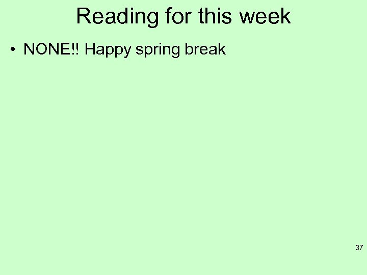 Reading for this week • NONE!! Happy spring break 37