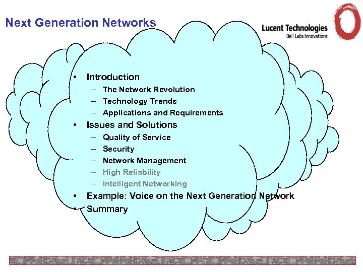 Next Generation Networks • Introduction – The Network Revolution – Technology Trends – Applications