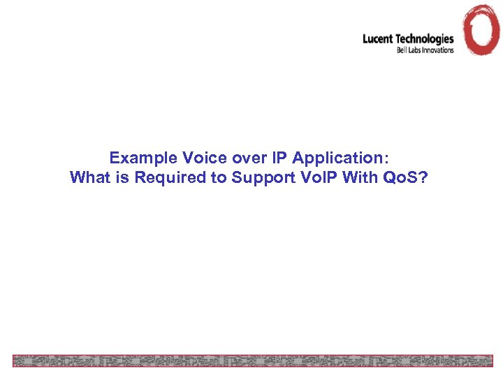 Example Voice over IP Application: What is Required to Support Vo. IP With Qo.