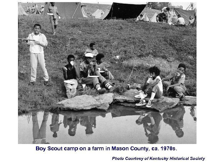 Boy Scout camp on a farm in Mason County, ca. 1970 s. Photo Courtesy