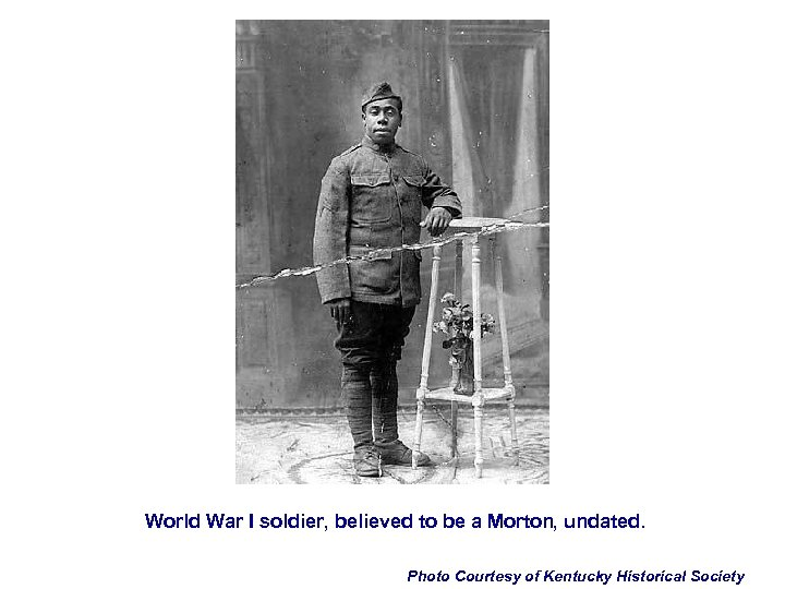 World War I soldier, believed to be a Morton, undated. Photo Courtesy of Kentucky