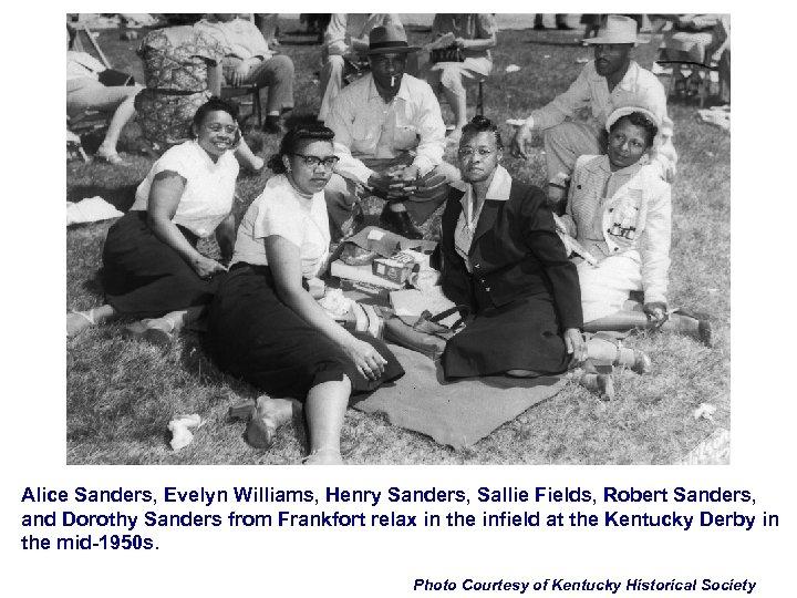 Alice Sanders, Evelyn Williams, Henry Sanders, Sallie Fields, Robert Sanders, and Dorothy Sanders from