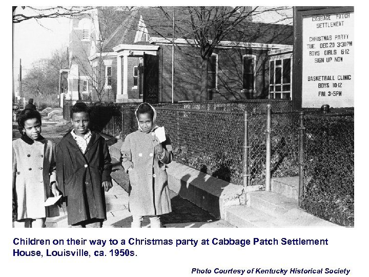 Children on their way to a Christmas party at Cabbage Patch Settlement House, Louisville,