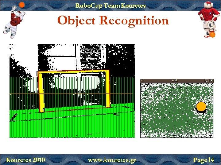 Robo. Cup Team Kouretes Object Recognition Kouretes 2010 www. kouretes. gr Page 14