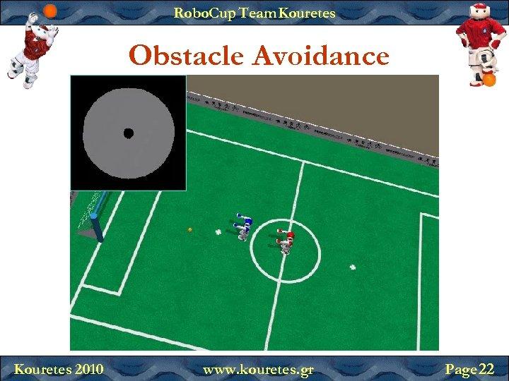 Robo. Cup Team Kouretes Obstacle Avoidance Kouretes 2010 www. kouretes. gr Page 22