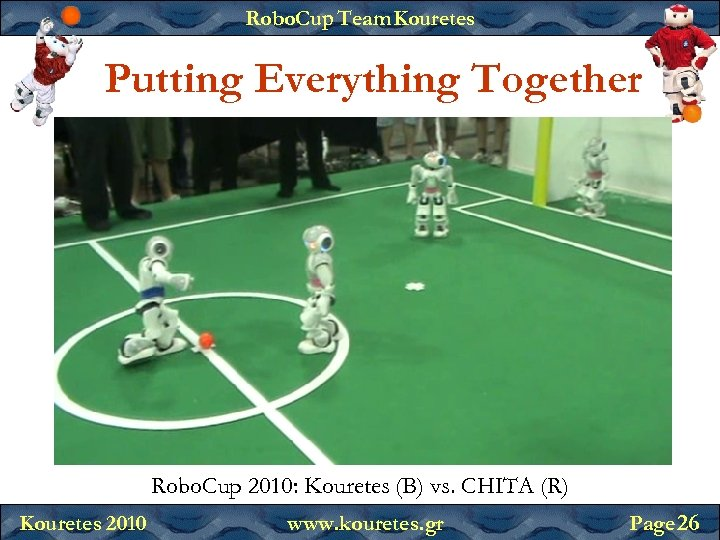 Robo. Cup Team Kouretes Putting Everything Together Robo. Cup 2010: Kouretes (B) vs. CHITA