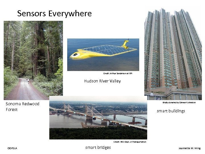 Sensors Everywhere Credit: Arthur Sanderson at RPI Hudson River Valley Sonoma Redwood Forest Kindly