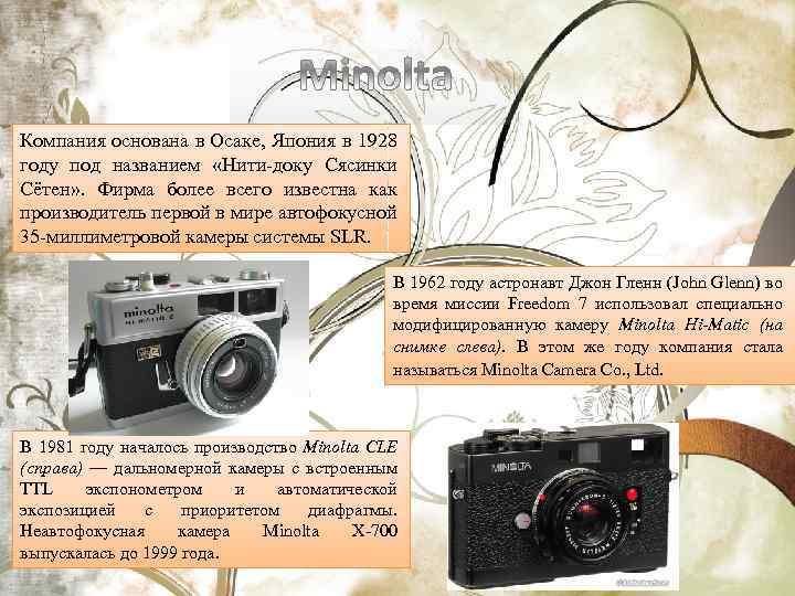 Компания основана в Осаке, Япония в 1928 году под названием «Нити-доку Сясинки Сётен» .