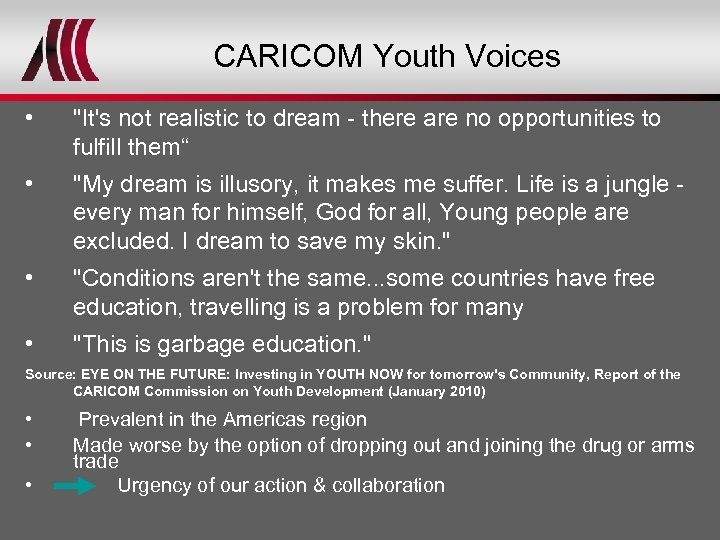 CARICOM Youth Voices •