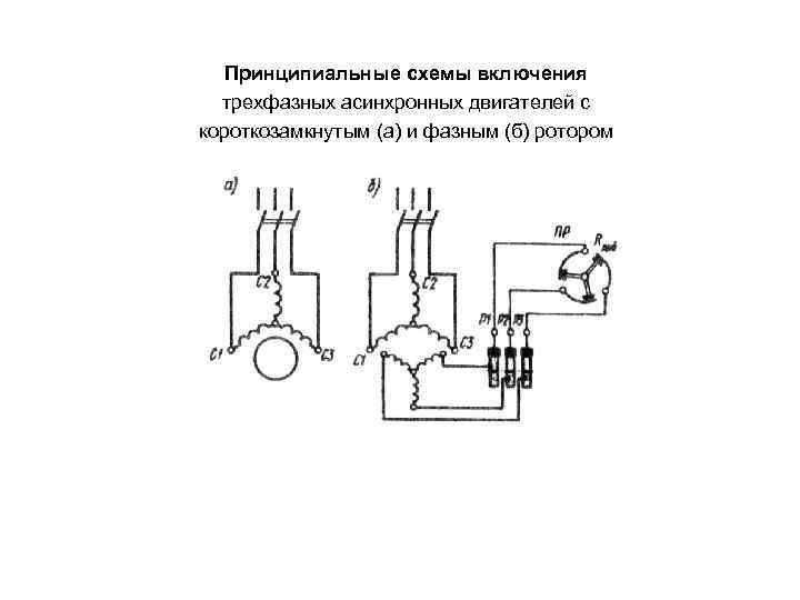 Схема асинхронной машины с короткозамкнутым ротором