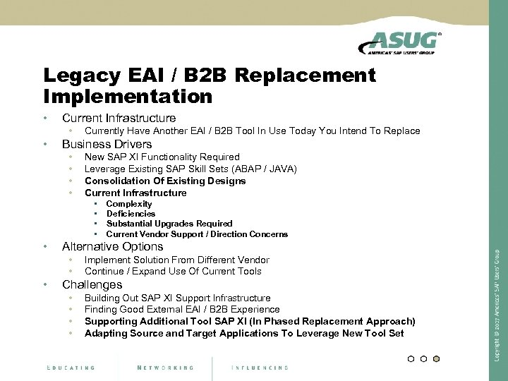 Legacy EAI / B 2 B Replacement Implementation • Current Infrastructure • • Currently