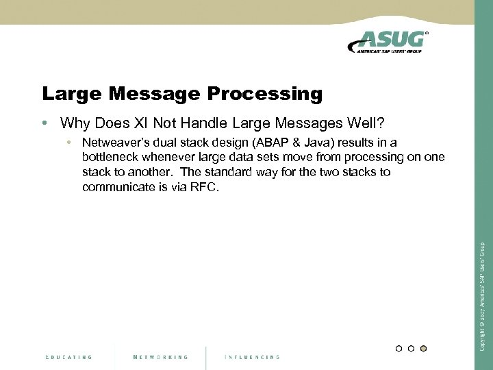 Large Message Processing • Why Does XI Not Handle Large Messages Well? • Netweaver's