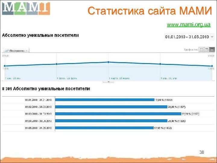 Статистика сайта МАМИ www. mami. org. ua 38