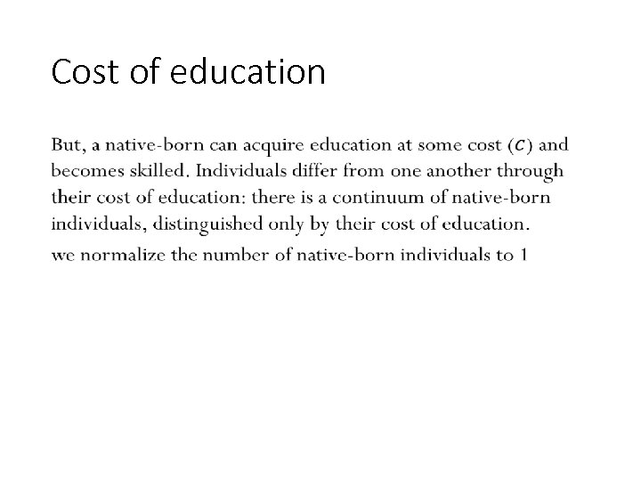 Cost of education • 122