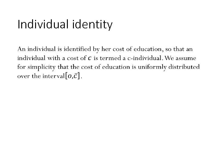 Individual identity • 123